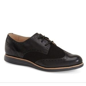 8B Cole Haan Women's Lunargrand Black Oxfords